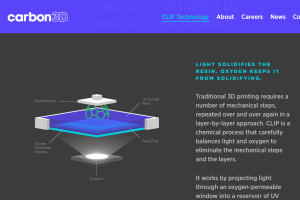 Carbon3D   CLIP Technology - Breakthrough technology centered on tunable photochemical process for layerless 3D printing