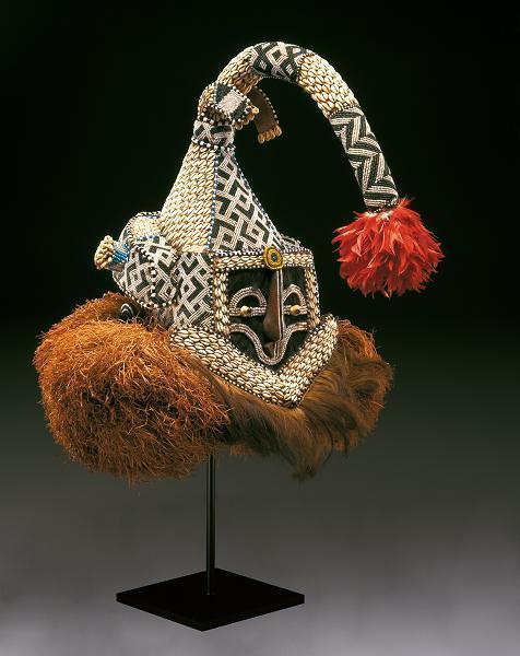 Helmet mask (Mukenga), Kuba peoples, mid-20th century, Dallas Museum of Art, gift in honor of Peter Hanszen Lynch and Cristina Martha Frances Lynch