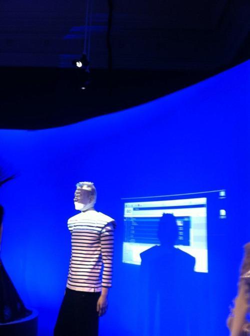 The Gaultier mannequin is programmed