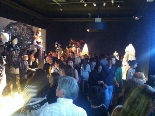 """More crowds in the """"Urban Jungle"""" section of the exhibition"""