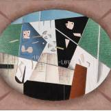 George L. K. Morris, Mixed Doubles, 1948, American, Dallas Museum of Art, gift of David T. Owsley via the Alvin and Lucy Owsley and Alconda-Owsley Foundations