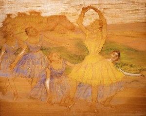 Edgar Degas, Group of Dancers, c. 1895-1897, pastel and gouache on panel, Dallas Museum of Art, The Wendy and Emery Reves Collection