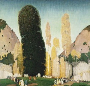 Victor Higgins, A Mountain Ceremony, c. 1930, oil on canvas, Dallas Museum of Art, anonymous gift