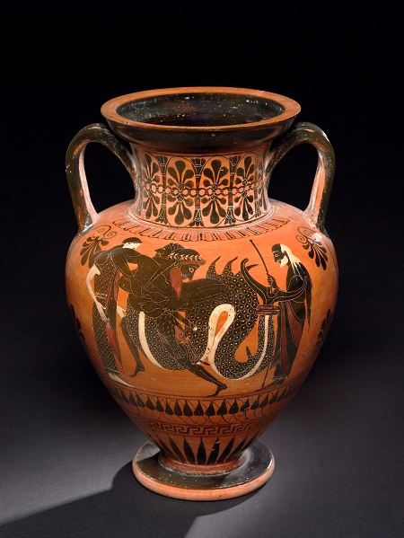 Black-figure neck amphora, Greek, 520–510 BC, from Vulci, Italy, GR 1836,0224.106 (Vase B224), © The Trustees of the British Museum (2013). All rights reserved.