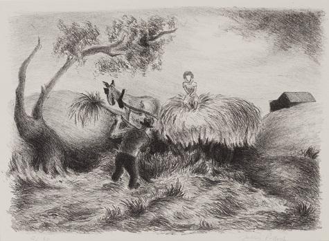 Jackson Pollock, Hayride, 1935-1936, lithograph, Dallas Museum of Art, gift of Mrs. Arthur Kramer, Sr.
