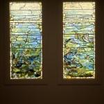 Louis Comfort Tiffany, Tiffany Glass and Decorating Company, Window with Starfish  and Window with Sea Anemone