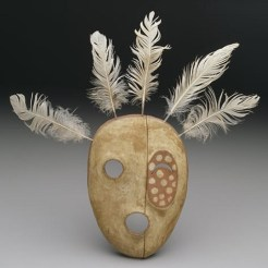Mask: The Bad Spirit of the Mountain, Yup'ik, Alaska, United States, late 19th century, wood, paint, and feathers, Dallas Museum of Art, gift of Elizabeth H. Penn