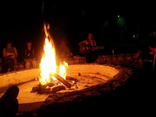 Campfire music with Mandy