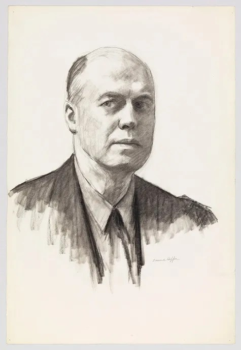 Edward Hopper, Self-Portrait, 1945, fabricated chalk and charcoal on paper, Whitney Museum of American Art, New York; Josephine N. Hopper Bequest 70.287, © Heirs of Josephine N. Hopper, licensed by Whitney Museum of American Art, N.Y.