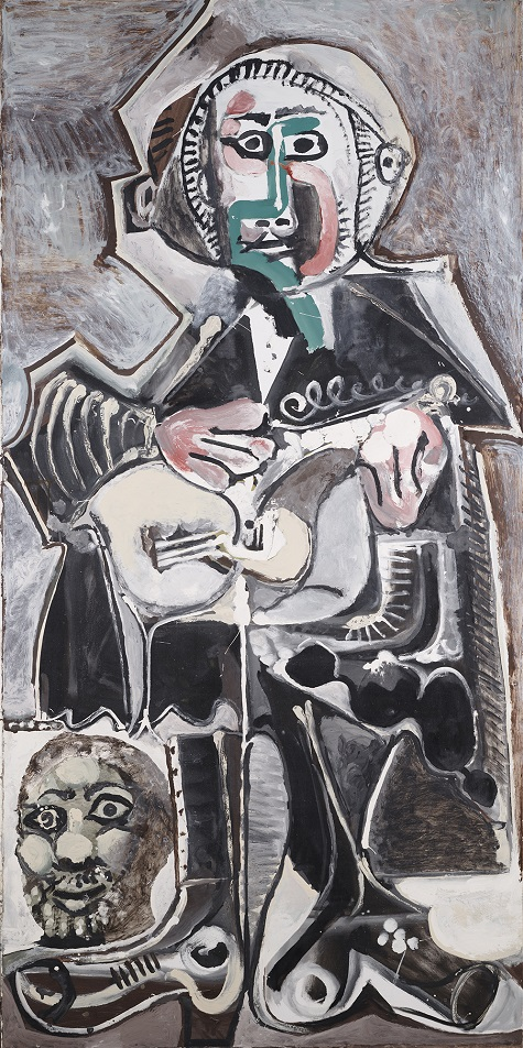 Pablo Picasso, The Guitarist, 1965, oil on canvas, Dallas Museum of Art, The Art Museum League Fund