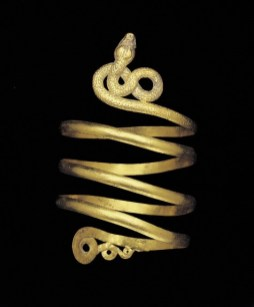 Single snake armlet, 1st century A.D., gold, chased, Roman Empire, Dallas Museum of Art, Museum League Purchase Funds, The Eugene and Margaret McDermott Art Fund, Inc., and Cecil H. and Ida M. Green in honor of Virginia Lucas Nick