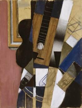 Juan Gris, Guitar & Pipe, 1913
