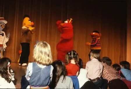 Sesame Street characters at the DMA, 1984