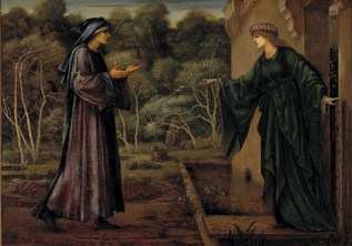 Sir Edward Coley Burne-Jones, The Pilgrim at the Gate of Idleness, 1884, oil on canvas, Dallas Museum of Art, Foundation for the Arts Collection, Mrs. John B. O'Hara Fund