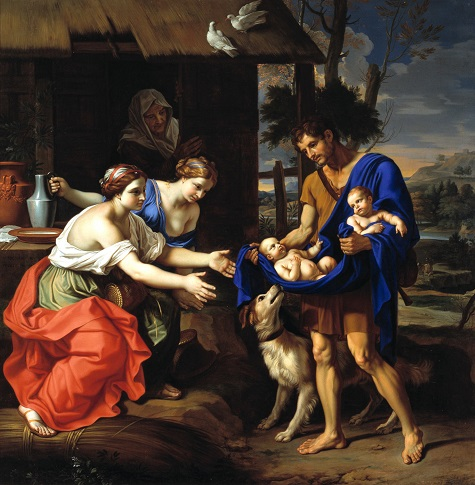 Nicolas Mignard, The Shepherd Faustulus Bringing Romulus and Remus to His Wife, 1654, oil on canvas, Dallas Museum of Art, gift of Mr. and Mrs. Algur H. Meadows and the Meadows Foundation, Incorporated