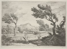 Adrien Manglard, Landscape with Travelers in a High Wind, 1753 (?), Dallas Museum of Art, gift of Mrs. A. E. Zonne