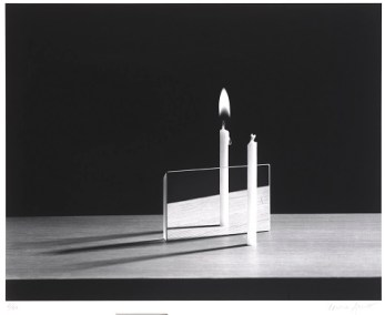 Berenice Abbott, Parallax (Candles), 1951, print 1983, gelatin silver print, Dallas Museum of Art, Foundation for the Arts Collection, gift of Morton and Marlene Meyerson © Estate of Berenice Abbott