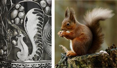 Detail of Wittgenstein Vitrine; Peter Trimming, Eurasian Red Squirrel, photograph. Wikipedia, web. November 24, 2014.