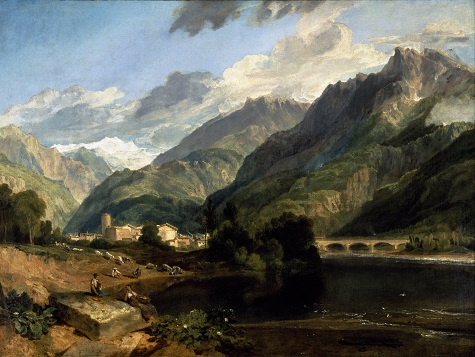 Joseph Mallord William Turner, Bonneville, Savoy, 1803, oil On canvas, Dallas Museum of Art, Foundation for the Arts Collection, gift of Nancy Hamon in memory of Jake L. Hamon with additional donations from Mrs. Eugene D. McDermott, Mrs. James H. Clark, Mrs. Edward Marcus and the Leland Fikes Foundation, Inc.