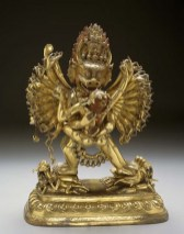 Vajrabhairava, 18th century, Tibet, Asia, gilt bronze, Dallas Museum of Art, gift of the Alconda-Owsley Foundation to honor Dr. Anne R. Bromberg