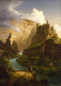 Thomas Cole, The Fountain at Vauclaus, oil on canvas, 1841, Dallas Museum of Art, gift of J.E.R. Chilton