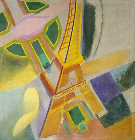 Robert Delaunay, Eiffel Tower, 1924, oil on canvas, Dallas Museum of Art, gift of the Meadows Foundation, Incorporated © L & M Services B. V., Amsterdam