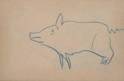 Winston Churchill, Small Drawing of a Pig, n.d., Dallas Museum of Art, The Wendy and Emery Reves Collection 1985.R.536.A-B