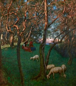 Hans Thoma, Olive Grove at Lake Garda (Olivengarten am Gardesee), 1897, oil on pressboard, Dallas Museum of Art, Foundation for the Arts Collection, Mrs. John B. O'Hara Fund 2013.14.FA