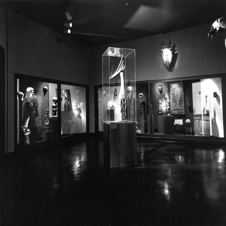 African Gallery installation at the Dallas Museum of Fine Arts, Fair Park, in 1978.
