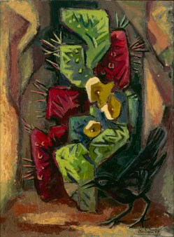Otis Dozier, Cactus and Crow,1947, Dallas Museum of Art, Ted Dealey Prize, Eighteenth Annual Dallas Allied Arts Exhibition, 1947