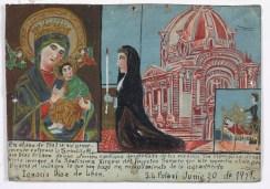 Retablo Dedicated by Ignacio Diaz de Leon, Latin American, June 20, 1911, Dallas Museum of Art, gift of Mr. and Mrs. Stanley Marcus Foundation