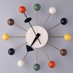 """George Nelson Associates, Howard Miller Clock Co., """"Ball"""" wall clock, designed 1947, Dallas Museum of Art, gift of the Alconda-Owsley Foundation in honor of Elizabeth Boeckman, Image Courtesy Dallas Museum of Art, 1994.255"""
