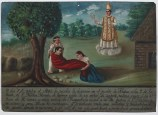 Retablo Dedicated by Nicolaz Morales, 7 Oct. 1886, oil on tin, Dallas Museum of Art, gift of Mr. and Mrs. Stanley Marcus Foundation 1961.84