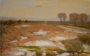 Edward G. Eisenlohr, Spring Thaw, c. 1943, oil on canvas, Dallas Museum of Art, Lida Hooe Memorial Fund 1945.17