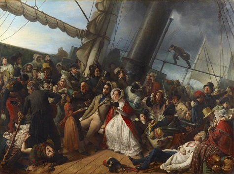 François–Auguste Biard, Seasickness on an English Corvette, 1857, oil on canvas, Dallas Museum of Art, gift of J.E.R. Chilton 2011.27