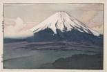 "Hiroshi Yoshida, ""Fuji San from Yamanaka,"" 1928, polychrome woodblock print, Dallas Museum of Art, the Abram C. Joseph and Ruth F. Ring Collection, gift of Miss Ruth F. Ring, 1985.57"