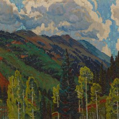 Alexandre Hogue, From Harriett's Cabin, 1927, Dallas Museum of Art, The Barrett Collection, Dallas, Texas