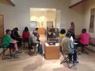 Tanya sharing the story of Daruma in the galleries.