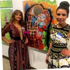 Briana with art