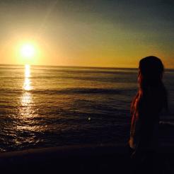 Briana at the beach