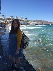 Madeleine visited Mykonos, an island in Greece known for it's bright blue skies, windmills and clear water.