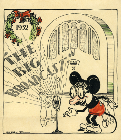 Cover of the Doyle Family holiday card, 1932, Jack Nolan Scrapbook.