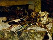 Adolphe Monticelli, Still Life with Sardines and Sea-Urchins, 1880–1882, Dallas Museum of Art, The Wendy and Emery Reves Collection