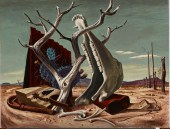 "Jerry Bywaters, ""On the Ranch,"" 1941, oil and tempera on Masonite, Dallas Museum of Art, Dealey Prize, Thirteenth Annual Dallas Allied Arts Exhibition, 1942, 1942.4"