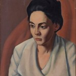 Jerry Bywaters, Untitled (portrait of Martha Wolcott), 1920, oil on canvas, Dallas Museum of Art, gift of the Estate of Jerry Bywaters 1989.170