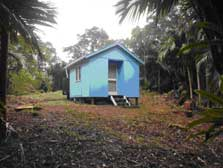 The upgraded Mahoe hut.