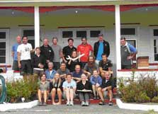 New and old Raoul team in front of the hostel.