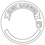 Blank Kiwi Ranger badge.