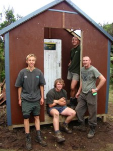 Hunters and DOC Rangers at Motutapere Hut.