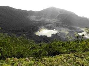 The view of the crater from Mt Moumoukai.